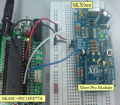XBee/XBee Pro Wireless Communicate with Microcontroller