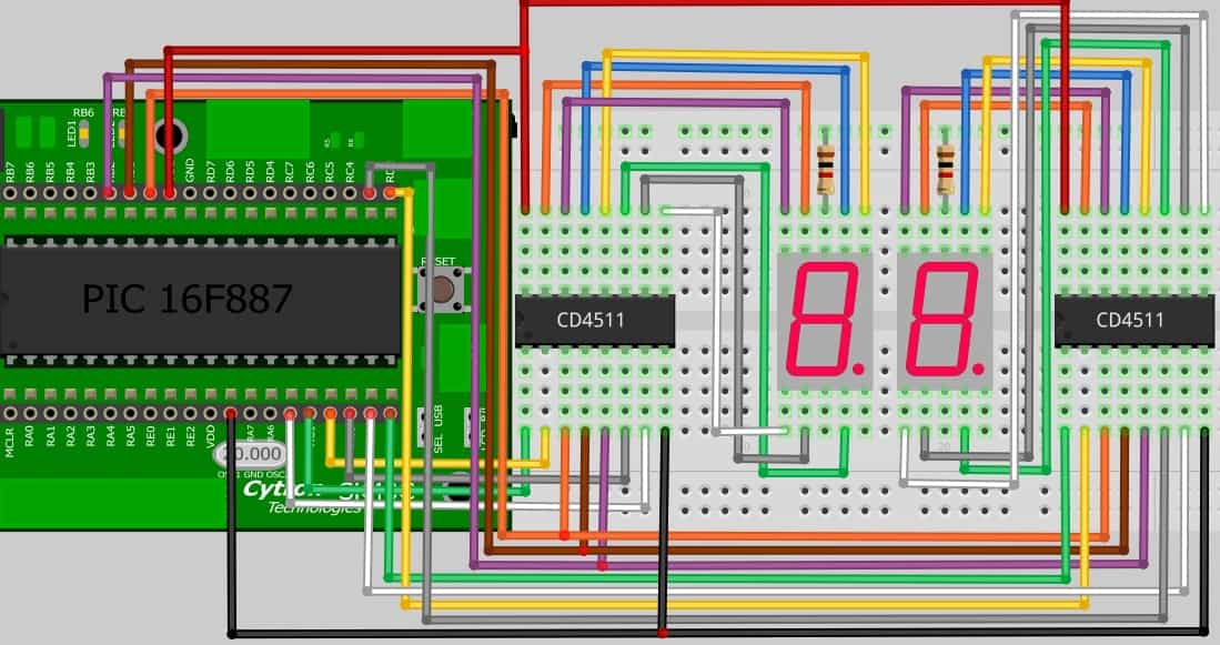 Project 12 – 7 segment display with CD4511 encoder