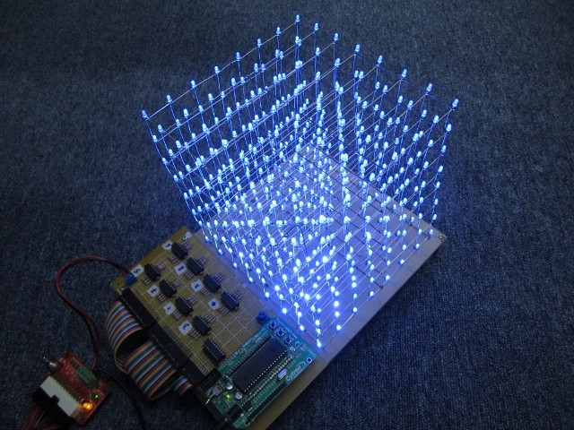 Construct a 8x8x8 LED Cube