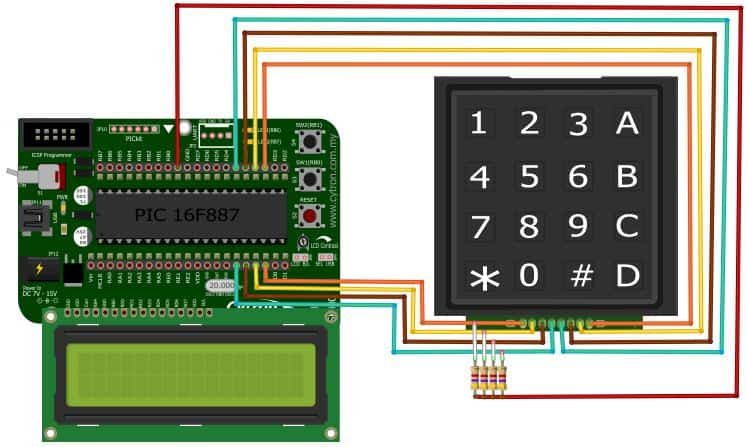 4×4 keypad | Tutorials of Cytron Technologies