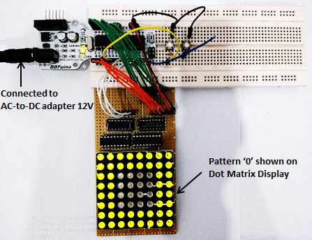 Interface Dot Matrix Display with SK40C and BBFUINO (Arduino)