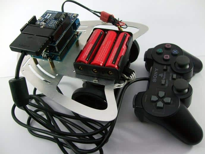 Remote Control with Shield-PS2 + G15 as wheel
