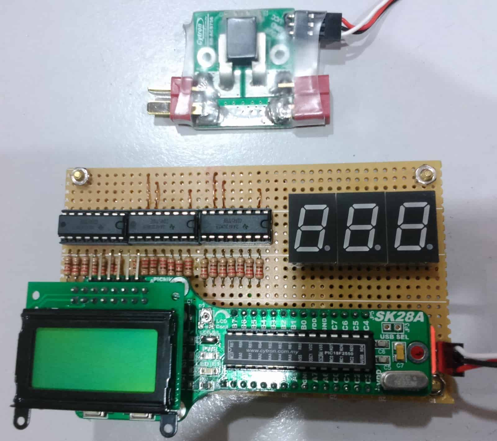Lcd Interfacing With Pic Microcontrollers Part 4 Tutorial By Cytron Electronics O View Topic Hall Effect Switch And Led Brightness Ampmeter Using Sk28a 7 Segment Display