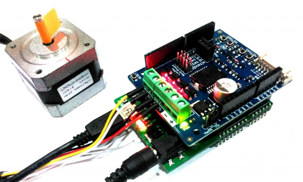CIKU + Stepper Motor + 2Amp Motor Driver Shield
