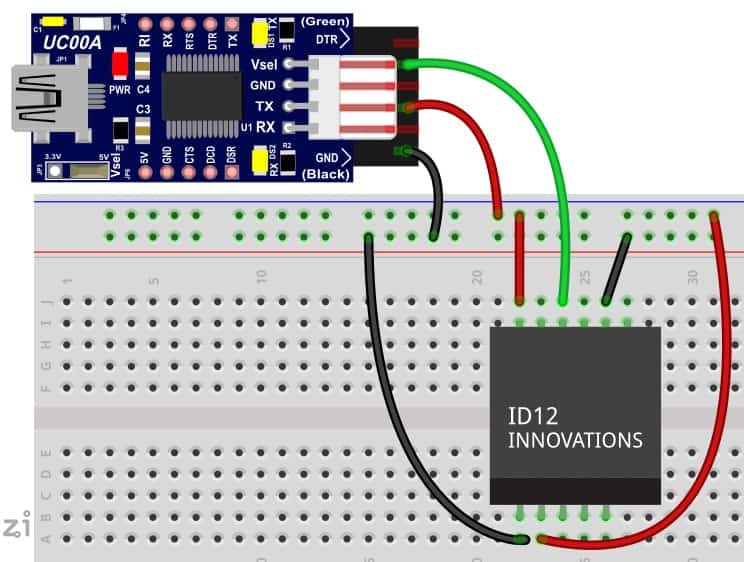 UC00A with RFID Fritzing