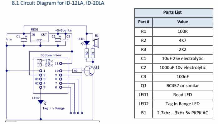 rfid reader id-20la (125khz) with arduino – tutorial by cytron rfid circuit diagram