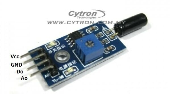 Sensing Vibration Amp Tilt Tutorial By Cytron