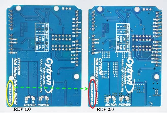 arduino motor shield comparison - back