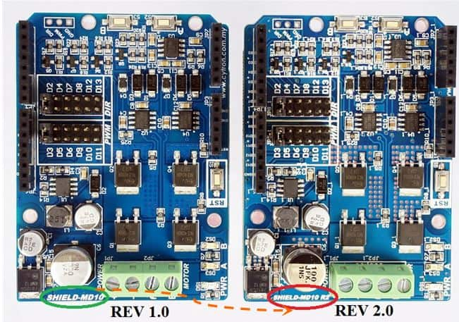 arduino motor shield comparison - Front