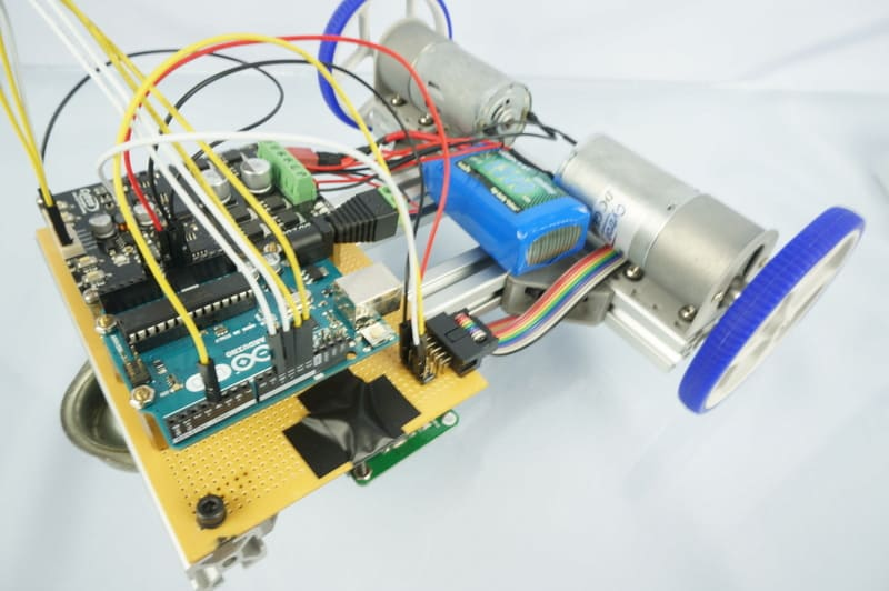 Line-Following Robot Using LSA08 in Serial Mode with Digital Output