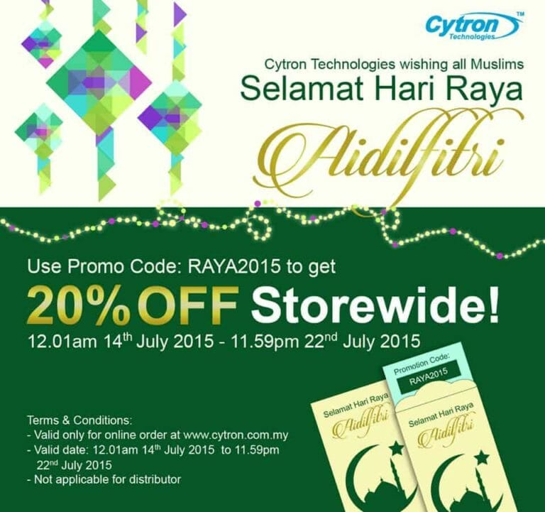 Cytron's Promotion on Hari Raya Eidulfitri  .