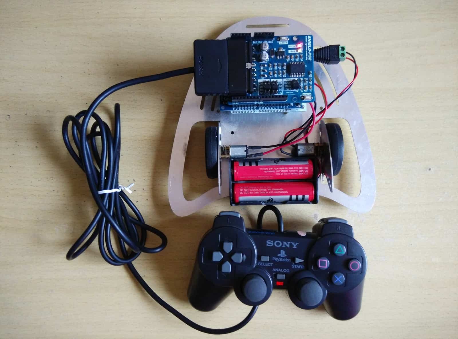Using Cytron PS2 Shield with Arduino Edubot