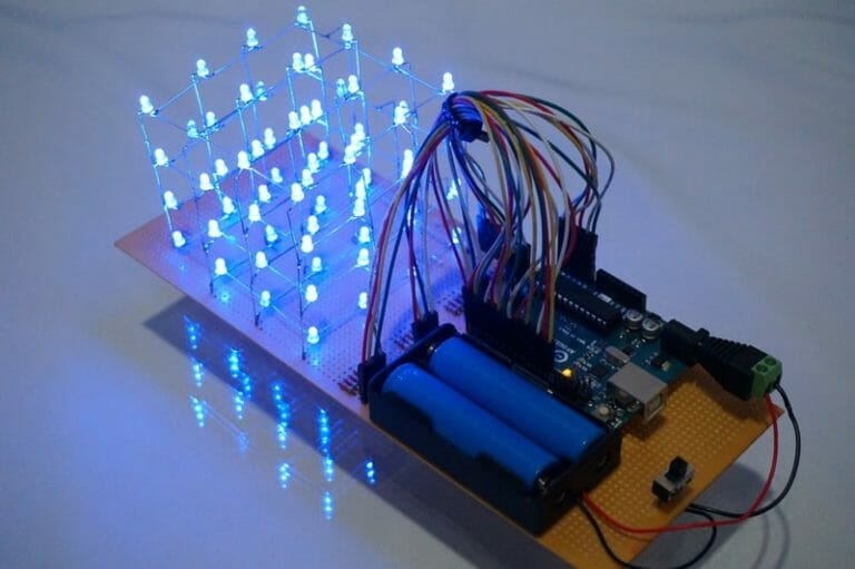 4x4x4 LED Cube using Arduino UNO without extra IC