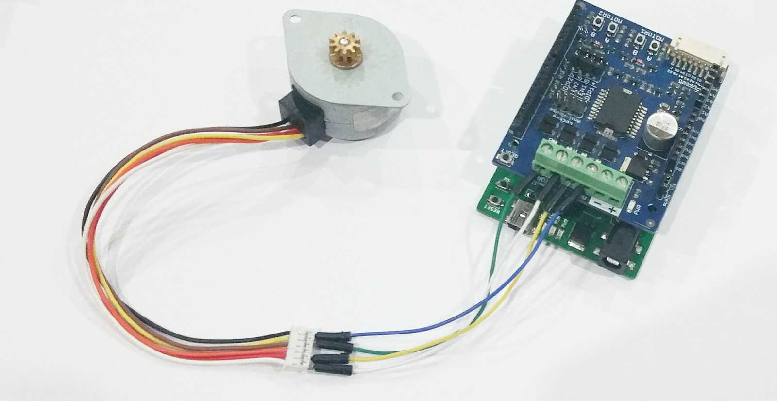 Arduino stepper motor 2amp motor driver shield for Arduino and stepper motor
