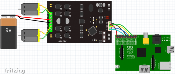 Raspberry pi control dc motor using mdds10 tutorial by for Dc motor raspberry pi