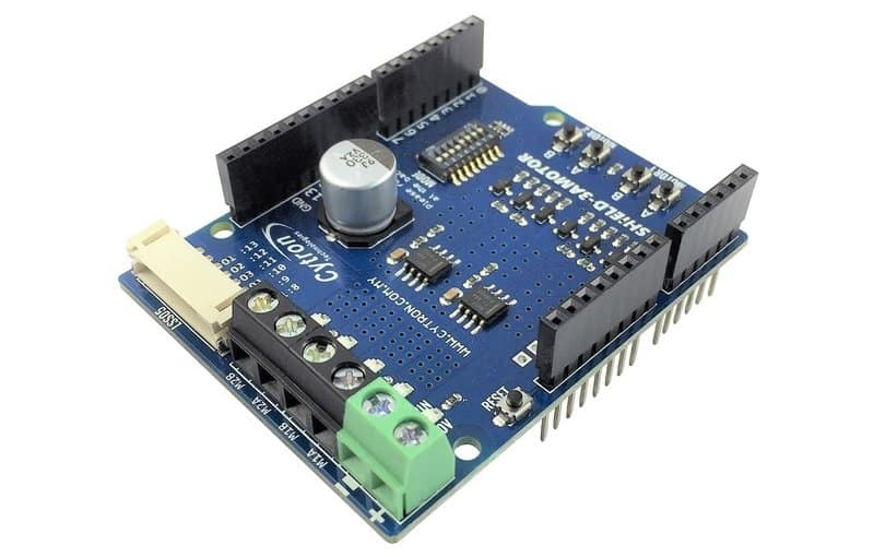 Now we have another improvement product which is 3A Motor Driver Shield.