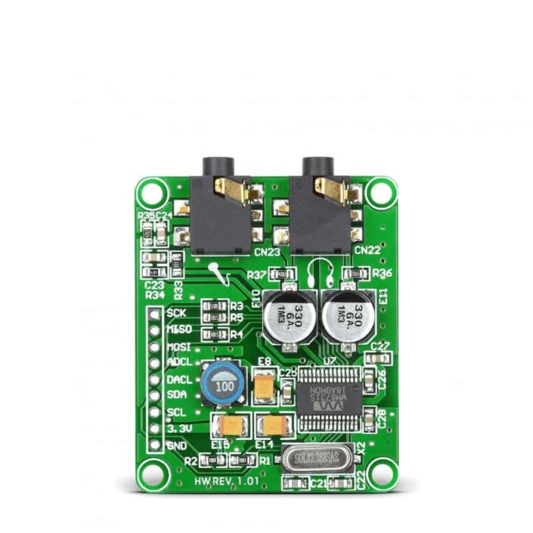 I2S for PIC32MX/MZ - Mikroelektronika Audio Codec Proto Board (Cirrus Logic WM8731 codec)