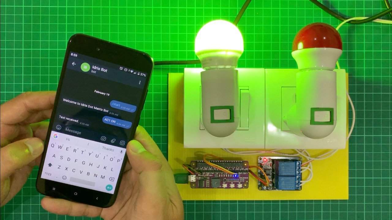 Controlling Electrical Appliances Through Telegram Message Using Rapsberry Pi
