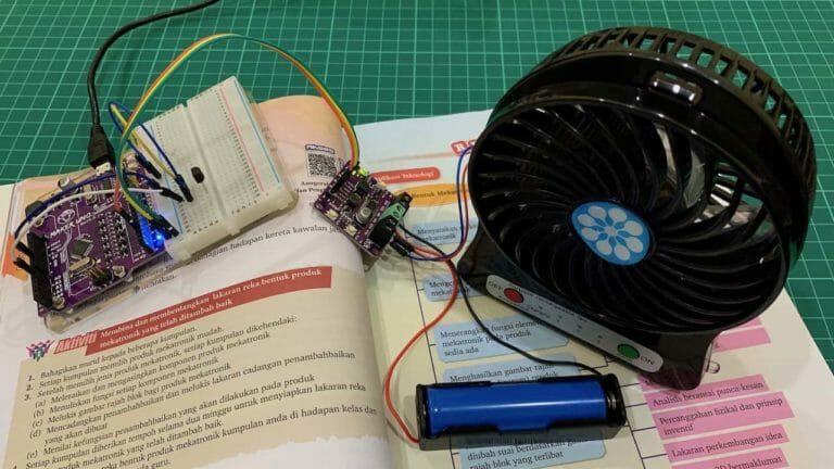 IMPROVING MINI FAN USING MAKER'S PRODUCT AND ARDUINO